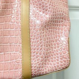 BCBGirls Bags - Pretty BCBGirls large pink faux crocodile bag